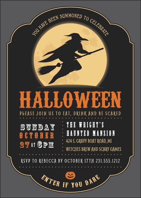 Adult Halloween Party Invitations among the trees adult halloween party invitations Il_570xn
