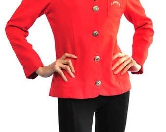 French La Cafete Uniform Red Jacket