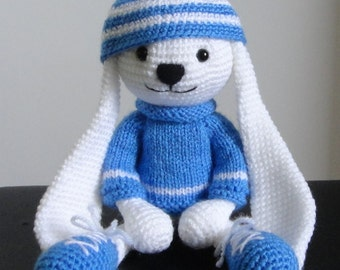 Rabbit  large Stuffed Animals Soft Toy Crochet Handmade Amigurumi. Made to order.