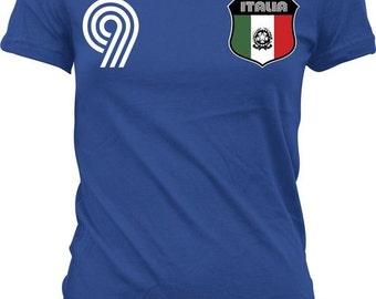 Italian Crest Soccer T-Shirt - Italian Pride / World Cup - ITA_06