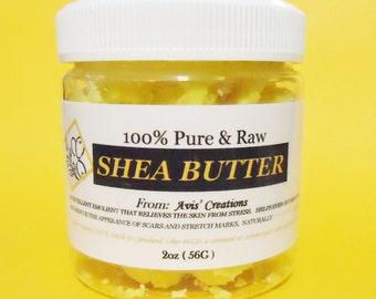 100% Pure & Raw Shea Butter Unrefined                                   2oz size