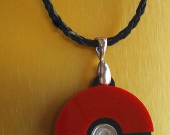 Laser Cut Pokeball Pendant