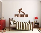 Minecraft Custom Kids Name Removable Wall Sticker Decor