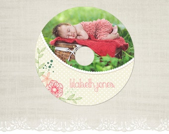 CD/DVD Label - Photography CD Label Template -CD02