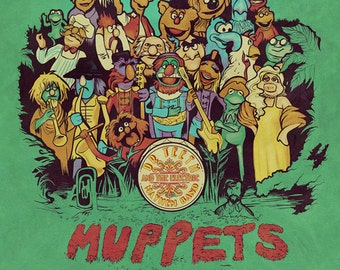 Muppets' Lonely Hearts Club signed miniprint - 4x5