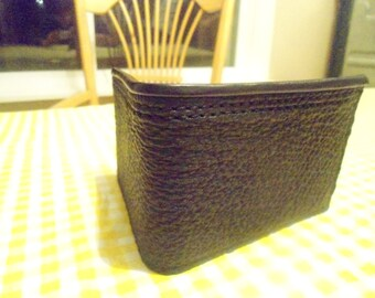 The SHARK Wallet, Genuine Shark Skin, All Leather Interior, ID Window, Hand Made in America