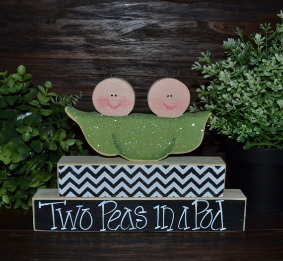 two peas in a pod twins baby shower decoration personalized nursery