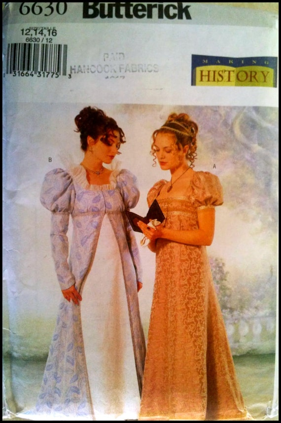 Butterick  6630 - Misses' Coat and Dress Costume Pattern  - making History Pattern  Size (12-16)  UNCUT