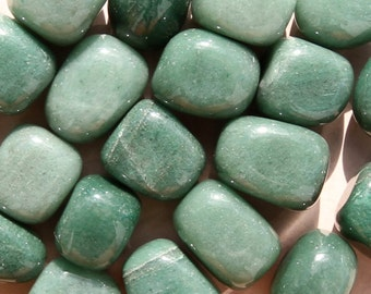 GREEN AVENTURINE (Grade A Natural) Tumbled Polished Stones Gemstone Rocks for Healing, Yoga, Meditation, Reiki, Crafts, Jewelry Supplies