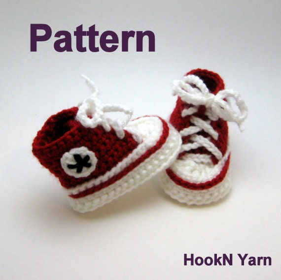 Baby Converse Pattern Converse Booties pattern baby booties