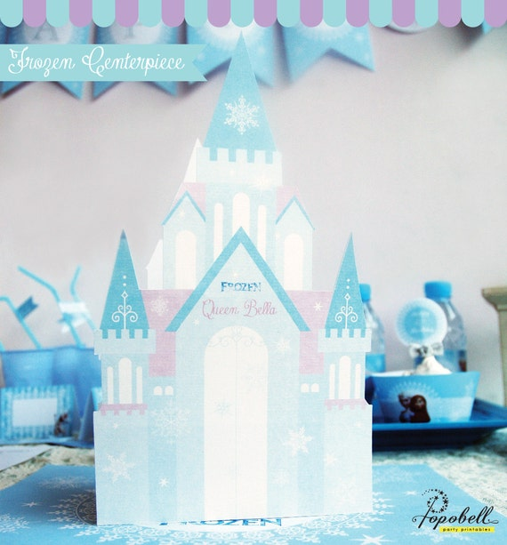 frozen centerpiece printable for frozen birthday diy personalized