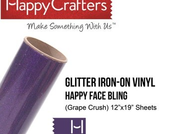 "Iron On Glitter Vinyl (Grape Crush) 12"" x 19"" Sheet"