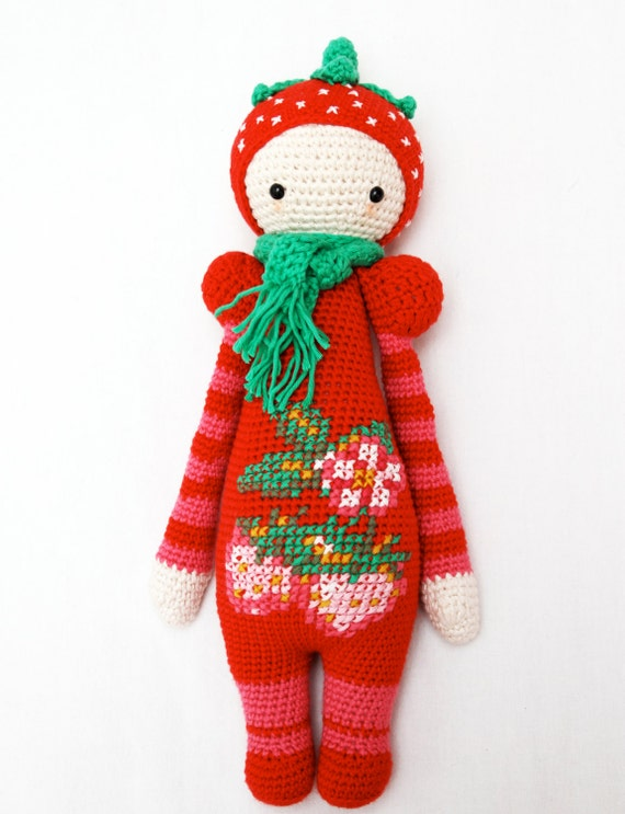 Crochet pattern for strawberry girl - Lalylala modification