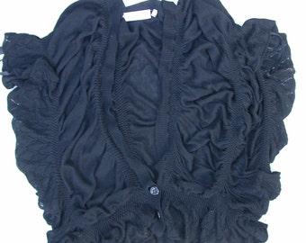 Black jersey vest shoulder-cover for woman
