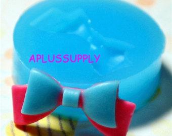 FYL021 Ribbon Bow Silicone Flexible Push Mold - Jewelry, Charms, Cupcake (Clay Fimo Casting Resins Epoxy Wax GumPaste Fondant)