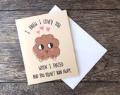 Funny Valentine Card - I love you and your farts greeting card