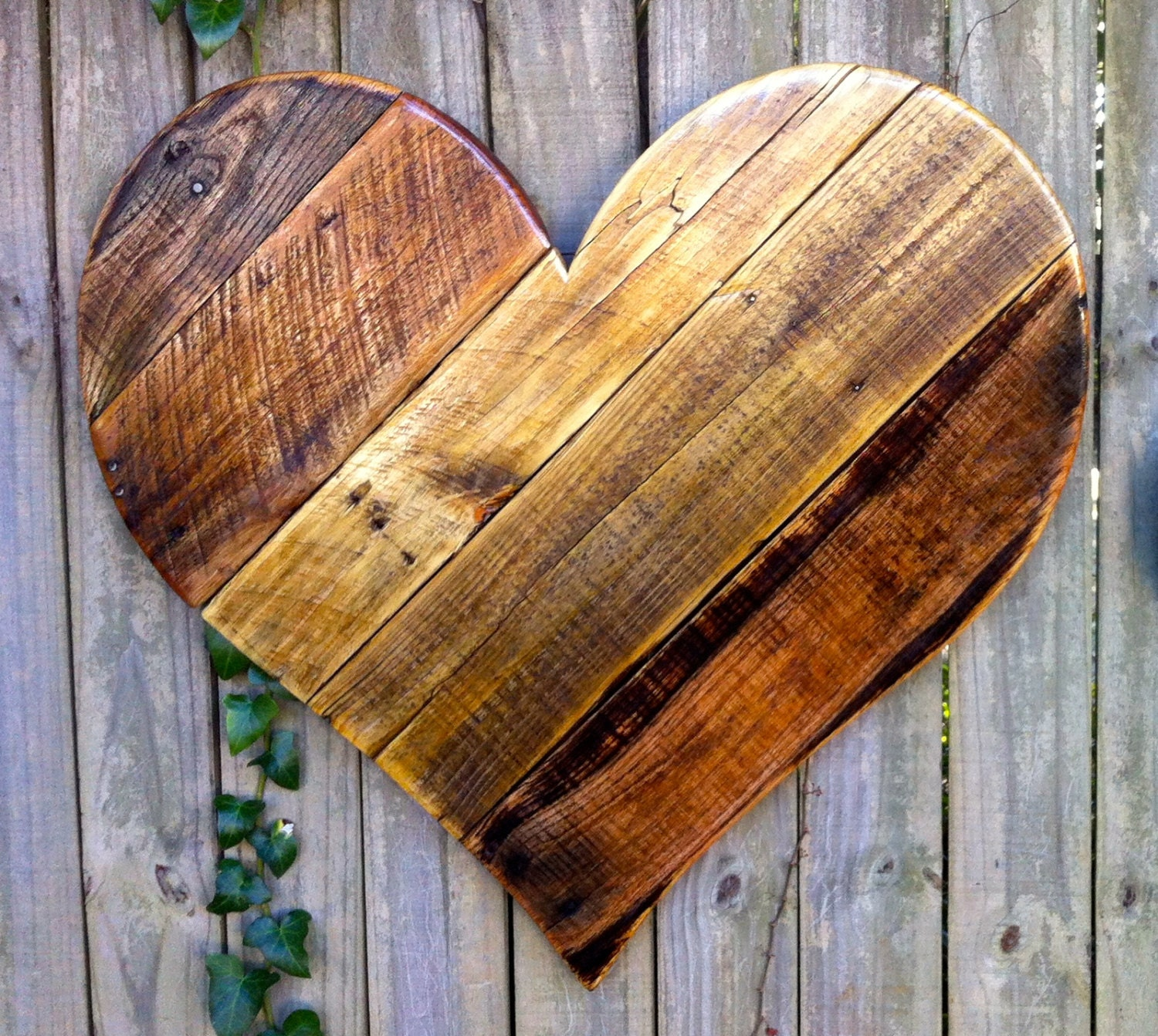 Large Heart Wall Decor : Rustic reclaimed large wood heart wall hanging by almaboheme