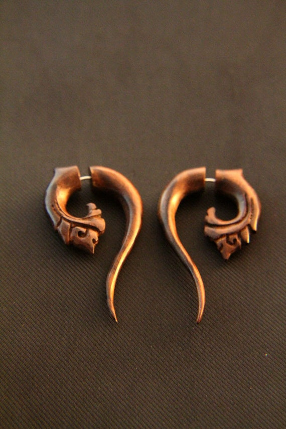 gauges that look like earrings ethnic wood earrings gemuh wooden 2009