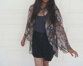 Paisley Chiffon Kimono-inspired Cover-up/Light Cardi-------------other fabric available!