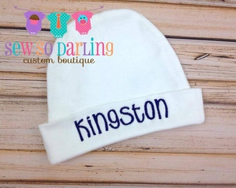 Monogrammed baby hat - personalized infant hat - infant cap