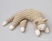 Sleepy Cat Crochet Pattern, Cat Amigurumi Pattern, home decor pattern, crochet sculpture, crochet art, toy pattern, kitten pattern, softie