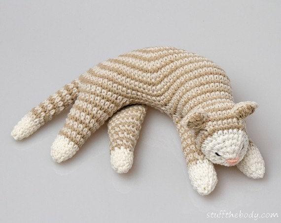 Amigurumi Cat Crochet Pattern : Sleepy cat crochet pattern amigurumi home decor