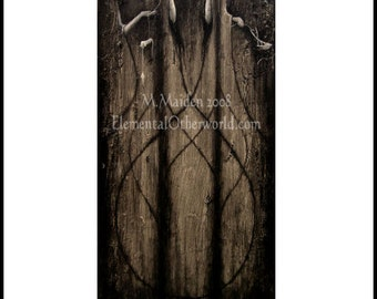 The Fates / Three Norns, signed A4 PRINT, archetypes of Norse myth Greek mythology viking, web of wyrd, heathen art pagan, Moirai, dark art