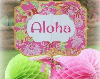 Printable Luau Small Yard Sign, Luau Party Sign to Print, DIY Luau Party Yard Signs, 11x17 and 8.5x11 Size, Editable Luau Party Signs