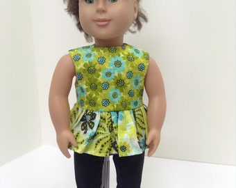 "Green Metalic Summer Set   - Fits 18"" American Girl Doll and all other 18"" Dolls"