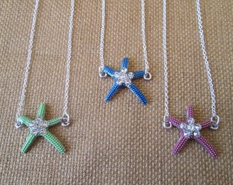 SALE 20% OFF- Sterling Silver Starfish Necklace by The Darling Duck