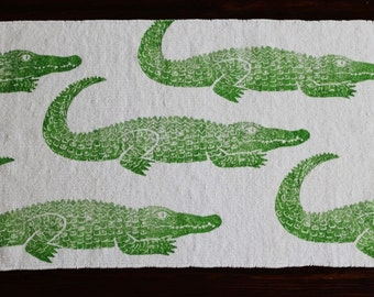 bath rug, bath mat ALLIGATOR cotton chenille rug