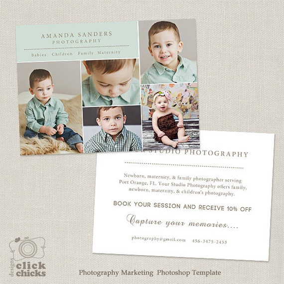 promo card photography marketing template flyer postcard