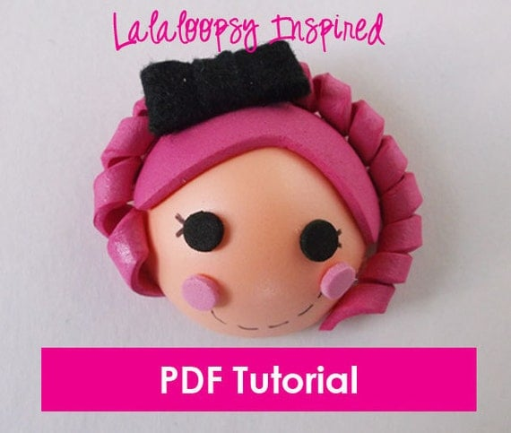 Foam Lalaloopsy Inspired Girl - Mini Fofucha - PDF Tutorial & Template