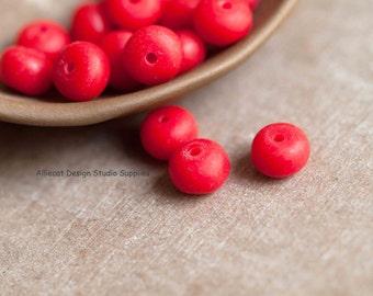 10 Rustic Matt Siam 7x10mm Washer Resin Beads (F0098)