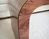 Wood Coffee Table / Walnut Accent Table / Walnut Console / Wood TV Stand - Equal Walnut Coffee Table