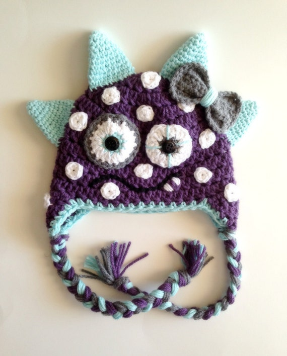 Items Similar To Monster Cap Hat Pdf Knitting Pattern Boy