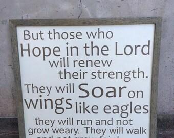 Isaiah 40:31 Sign