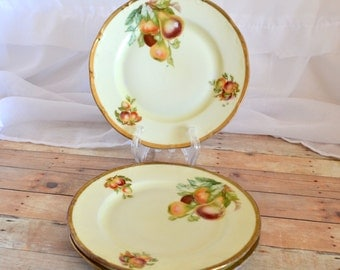 Set of 3 dessert plates with pears; Germany 20