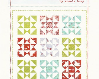 "Festive Quilt Pattern - Uses 9 Fat Quarters - by Aneela Hoey - 62"" x 62"" - AH 1205 (W1734)"