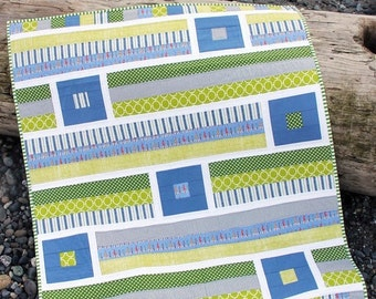 """Breezy Quilt Pattern #148 - New Little Pattern by Cluck Cluck Sew - Size 40.5"""" x 47.5"""" - Fun and Fast! (W2063)"""