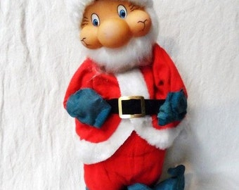 Animated Musical SANTA CLAUSE Doll Christmas Decoration-Country Christmas Decor- Jolly Old St. Nicholas-Plays Santa Clause is Coming to Town