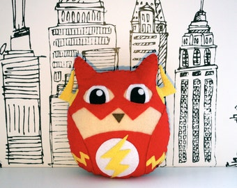 The Flash - Handmade Owl Plush Toy
