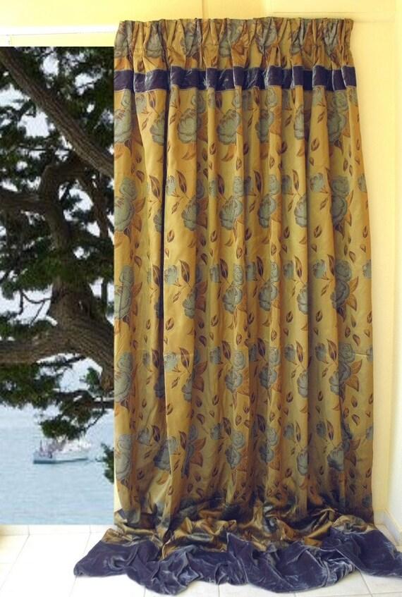 30 discount floral curtain panel 118 long teal green. Black Bedroom Furniture Sets. Home Design Ideas