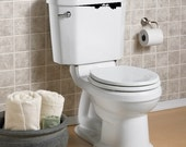Items similar to cute toilet monster vinyl decal sticker made in usa on etsy - Toilet ontwerp deco ...