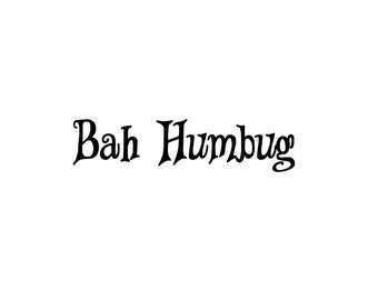 Popular items for signing decal on etsy for Bah humbug door decoration