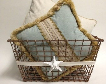 Vintage French Oyster Basket from South of France