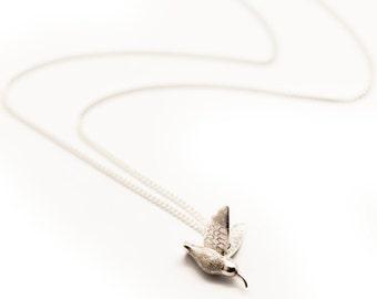 Small Silver Hummingbird Pendant