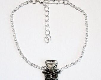 Baron Samedi, Voodoo Anklet, Ankle Bracelet, chain, Handmade in England, H
