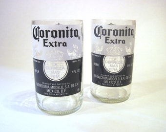 Corona beer glasses etsy for How to make corona glasses