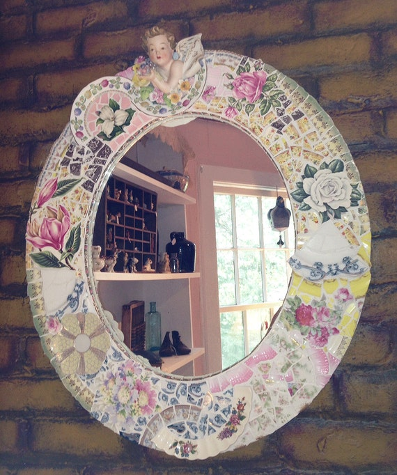 Unavailable listing on etsy for Broken mirror craft ideas